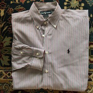 Polo Button Down Striped Men's Yarmouth Fit
